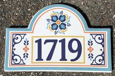 Barcelona House Number Plaque – Spanish Style House Plaques