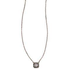 Crystal Square Pendant Necklace. Love it! https://www.chloeandisabel.com/boutique/forgetmenot