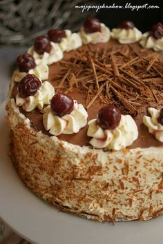 my passions: black forest cake or Black Forest Pastry Recipes, Cupcake Recipes, Dessert Recipes, Polish Desserts, Polish Recipes, Great Desserts, Holiday Desserts, Different Cakes, Dessert Bread