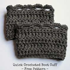 Quick Crocheted Boot Cuff ~ Free Pattern