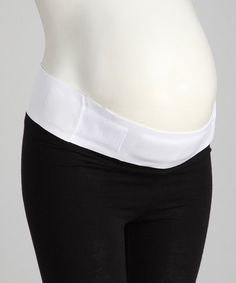 Take a look at this White Maternity Support Belt - Women & Plus by Leading Lady on #zulily today!