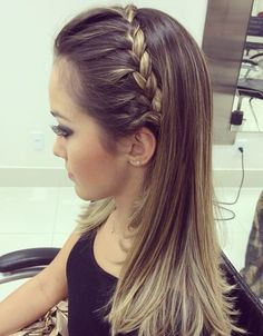 Fetching Hairstyles For Straight Hair To Sport This Season - Bridesmaid hairstyle straight hair