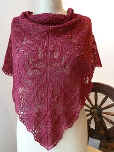 Another pinner said:  I knitted this shawl design called Damask from Ravelry.  I used Fyberspates Scrumptious 4ply and it worked like a dream.