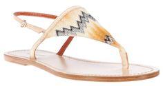Summer Sandals: Edle Sandale in Beige, Creme von Missoni.