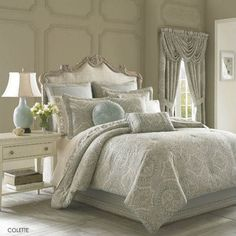 J Queen New York Colette Bedding - Medallion By J Queen New York Bedding, Bed Sets, Comforters, Duvets, Bedspreads, Quilts