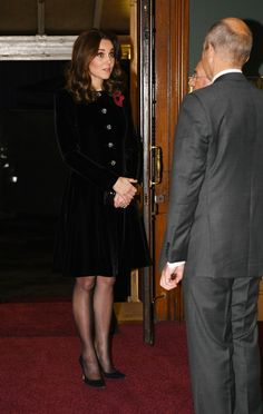 11 November 2017 - British Royals Attend Festival of Remembrance at Royal Albert Hall - coat by Catherine Walker