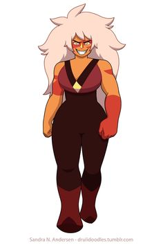 """drulidoodles: """" Jasper walk cycle, everything done by me, in TVPaint. I just love villains! And Steven Universe! And Jasper! May the Summer of Steven be grand! Helgadraws.tumblr.com helped me turn her into a gif! """""""