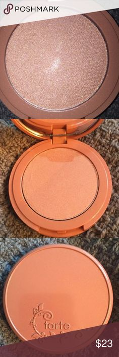 NIB TARTE LE AMAZONIAN CLAY DAYGLEAM HIGHLIGHTER NO TRADES THANKS! 100% guaranteed authentic TARTE! A TARTE.COM exclusive Limited Edition! This has been unused, untouched and only opened for photos! This 12 hour Amazonian Clay highlighter is in a LIMITED EDITION ROSE GOLD shade. Use your favorite brush to illuminate the high points of the face, dust powder onto top of cheekbones, down the nose, cupids bow, and the brow bone. Dermatologist tested. Formulated without parabens, mineral oil…