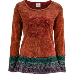 Center Stage Paw Long Sleeve Top