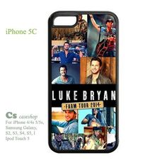 Custom Hot Country Acts Luke Bryan Case For Iphone 5c   5STAR - Accessories on ArtFire