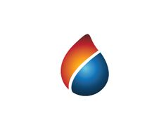Oil Logo design - Simple logo with drop shape. Thisi is ideal logo for a energy company, oil company etc..