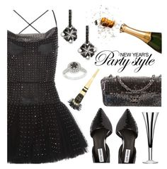 """""""New Year's Eve Party Style"""" by deborah-calton ❤ liked on Polyvore featuring Valentino, Steve Madden, Chanel, DB Designs and LSA International"""
