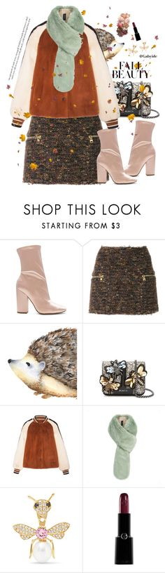 """""""Casual fall beauty"""" by gabyidc ❤ liked on Polyvore featuring Kendall + Kylie, Balmain, Yvonne Léon, Giorgio Armani, Sigma, casual, skirt and tweed"""