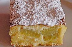 Rhubarb cake with sour cream dome - Kuchen - Rhabarberkuchen Buttery Cornbread Recipe, Southern Cornbread Recipe, Cornbread Cake, Honey Cornbread, Homemade Cornbread, Cake Recipes Without Oven, Cake Recipes From Scratch, Easy Cake Recipes, Easy Vanilla Cake Recipe