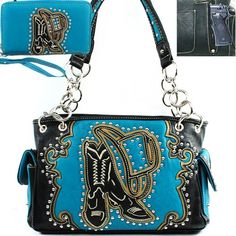 This item sell at http://www.handbagloverusa.com/ Montana West Western Concealed Carry / Concealed Weapon / Gun Pocket Small Round Rivet Studded Unique Cowboy Boots and Hat Embroidered Detailed Side Pocket Tote Satchel Shoulder Handbag Purse with Wallet