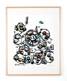 EN ANNAN DAG Bläck, akvarell och pastellkrita på papper Cajsa Fredlund, cajfre@gmail.com