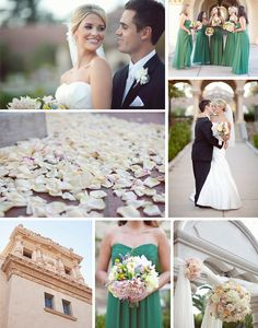 Stacey   Josh's wedding is so fresh and elegant from the details of their cake, to the candy bar and table decor. With a setting like The Prado in Balboa Park, it was bound to be beautiful. We love the unique shade of green the bride choose for her bridesmaid's dresses. The flower arrangements and bouquets by Jennifer Cole are bold but still soft and romantic. Joielala Photographie captured  this great looking couple and their day with style. VENDORSPhotography: joielala ph