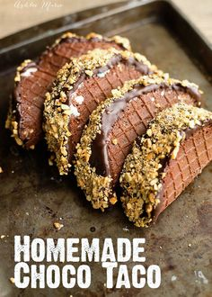 Choco Taco - easy to create and make your own in any flavor with this homemade chocolate waffle cone recipe and video tutorial : ashleemarie Ice Cream Taco, Ice Cream Treats, Ice Cream Desserts, Frozen Desserts, Ice Cream Recipes, Just Desserts, Delicious Desserts, Dessert Recipes, Yummy Food