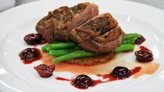 Duck with sour cherry sauce and potato rosti - RTE Food
