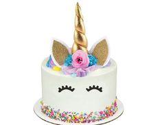 UNICORN Cake Topper, Unicorn Birthday, Unicorn Party Decorations for Birthday Party or Baby Shower - Birthday Gifts & Party Ideas - Unicorn Birthday Parties, Unicorn Party, Cake Birthday, Birthday Kids, Unicorn Valentine, Valentine Box, Bolo Minnie, Unicorn Cake Topper, Unicorn Cakes