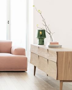Scandinavian storage inspiration from Muuto: The Reflect Sideboard is storage unit with considerable length that works in both a living room and larger office spaces. With a curved surface in sturdy f Scandinavian Style Home, Scandinavian Interior, Scandinavian Living, Living Room Inspiration, Home Decor Inspiration, Design Inspiration, Decor Ideas, Design Ideas, Unique Furniture