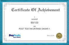 Score Report: POST TEST AKUNTANSI DASAR 1 at Free Online Quiz School