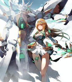 Safebooru is a anime and manga picture search engine, images are being updated hourly. Game Character, Character Concept, Character Design, Arte Gundam, Xenoblade Chronicles 2, Mekka, Mecha Anime, Warrior Girl, Another Anime