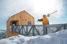 Designed by MacKay-Lyons Sweetapple Architects, the warmth and simplicity of the cedar cabins on Powder Mountain are echoed in the cozy interior of each building. Photo by Doublespace Photography. Cedar Cabin, Cedar Walls, Summit Series, Mountain Living, Wood Windows, Interior Exterior, Contemporary Architecture, Traditional House, Utah