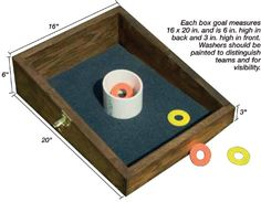 Originally played in a sandpit with submerged tin cans for goals, washer toss is a variation of horseshoes that's especially popular in the mid-Atlantic states, where leagues and tournaments