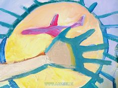 Hand and plane in sun, by Lone Aabrink ( www.aabrink.dk )