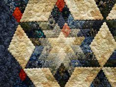 Star made with tiny hexagons! -- YOWZA!