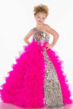 Little Girl's Pageant Dress | little girl dresses | Pinterest ...
