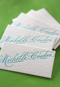 Business card. Soft colors.