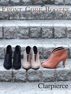 【プレセール】クラーピアス フロントゴアブーティ【clar pierce】【レディース靴】【本革】【ブーツ】【ショートブーツ】【ムートンブーツ】【RCP】【30】【楽天市場】