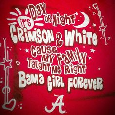 Alabama Crimson Tide baby! Roll Tide Roll!