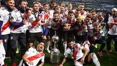 River Plate 1 - 1 Boca Juniors, Copa Libertadores River Plate scored 2 more goals in the stoppage time, and they won the championship of Copa Libertadores finally. River Tattoo, Thing 1, Football Match, The Championship, Plates, Gaston, Carp, Madrid, Goals