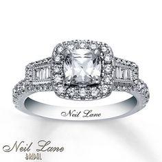 DREAM RING!!!!!!!!   Neil Lane Engagement Ring 1 5/8 ct tw Diamonds 14K White Gold