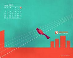 Desktop Calendar - June 2012. #SmashingMagazine