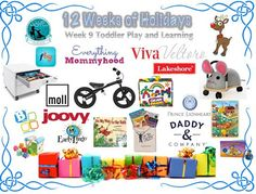 12 Weeks of Holidays BIG Giveaway!  Toddler Play and Learning!