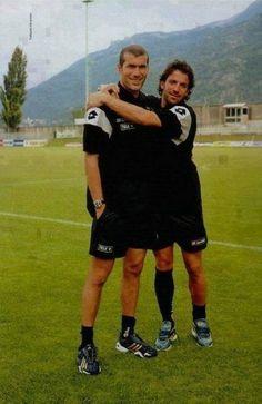 Zidane e Del Piero #LegendsOnly