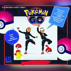 Made him a flyer with boondocks character because he looks like him!!!! He absolutely loved it!!! #pokemon party #pikachu #invitation #blackkid #lit #riley #boondocks #boy #africanamerican