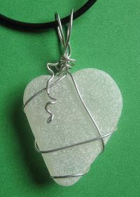 Jewelry designed from sea glass found at the Jersey Shore beach