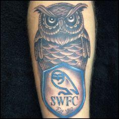 Owl tattoo #swfc #owltattoo #sheffieldwednesday