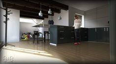 Ricardo Loft Interior, Kitchen a+e visualisations