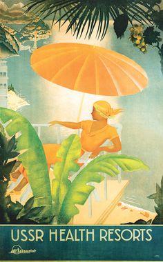 Ух, какие редкости встретила по наводке glam_fille ! Рекламные плакаты для западных туристов, СССР, конец 20-х и 30-е годы. Самые впечатлившие - под катом, прочие - по ссылке выше. А еще там был вот этот платок: Оооооблин, хочухочухочу! Эта графичность, гравюрность рисунка, это сочетание цветов,…