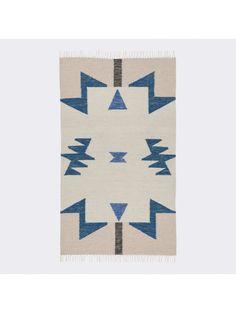 Janessa Kelim Rug, Blue Triangles