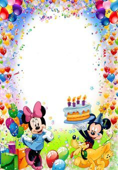 Mickey and Minnie Mouse wish you a Happy Birthday Happy Birthday Mickey Mouse, Happy Birthday Wishes Photos, Birthday Wishes For Kids, Happy Birthday Frame, Happy Birthday Wallpaper, Happy Birthday Celebration, Birthday Frames, Happy Birthday Sister, Happy Birthday Greetings