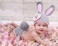 Crochet Diaper and Bunny Ears