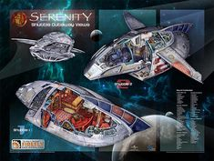 GeekAlerts has shown you the strong, smart, beautiful and warrior women of Firefly with the Firefly Les Femmes Poster Set and now you can get a closer look at Firefly Ship, Firefly Art, Firefly Serenity, Serenity Ship, Spaceship Design, Spaceship Concept, Joss Whedon, Star Wars, Firefly Series