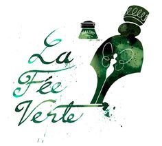"""La Fée Verte"" The Green Fairy // illustration depicting Absinthe as the poet's ink // Commando"